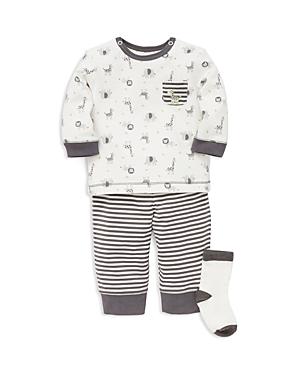 Little Me Boys Safari Animal Tee Jogger Pants  Socks Set  Baby