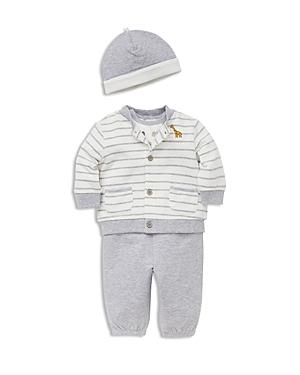Little Me Boys Hat Cardigan Bodysuit  Jogger Pants Set  Baby