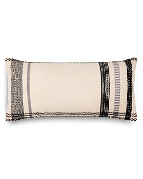 "Loloi - Magnolia Home Embroidered Ivory & Black Decorative Pillow, 12"" x 27"""
