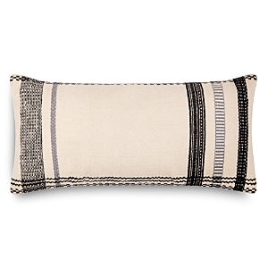 Loloi Magnolia Home Embroidered Ivory & Black Decorative Pillow, 12 x 27