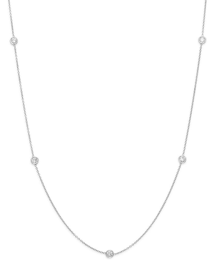 Bloomingdale's - Diamond Station Necklace in 14K White Gold, .50 ct. t.w. - 100% Exclusive