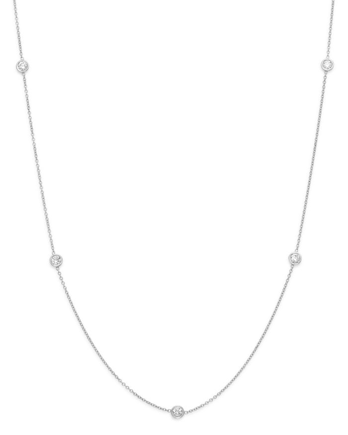 Bloomingdale's Diamond Station Necklace in 14K White Gold, .50 ct. t.w.  | Bloomingdale's