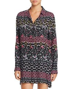 Josie - Floral Print Twill Sleepshirt