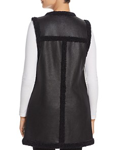 NIC and ZOE - Drama Faux Shearling-Trimmed Faux Leather Vest