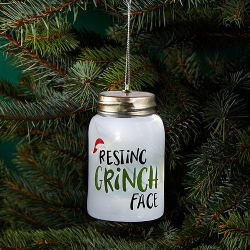 Bloomingdale's - Resting Grinch Face Bottle Ornament - 100% Exclusive - Bloomingdale's Resting Grinch Face Bottle Ornament - 100% Exclusive