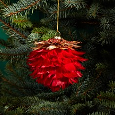 Bloomingdale's Feather Pinecone Ball Ornament - 100% Exclusive_0
