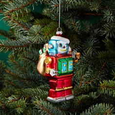 Bloomingdale's Glass Robot Ornament - 100% Exclusive_0