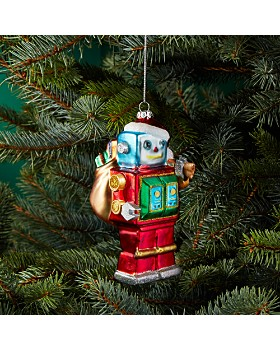 1002056939f Bloomingdale s - Glass Robot Ornament - 100% Exclusive