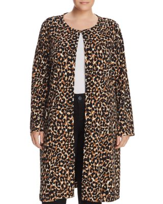 Cora Leopard Print Coat by Leota Plus