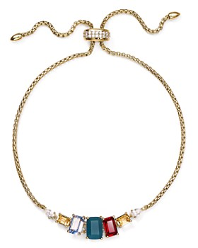 Nadri - Verdana Multicolor Stone Slider Bracelet