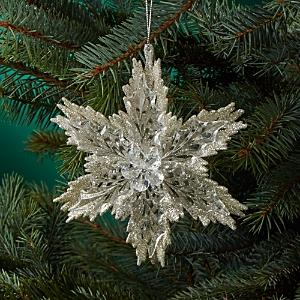 Kurt Adler Glitter Snowflake Ornament