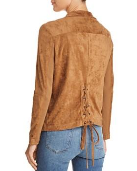BB DAKOTA - Earned It Lace-Up Faux Suede Jacket