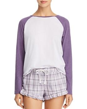 UGG® - Charley Raglan Tee & Plaid Shorts Sleep Set