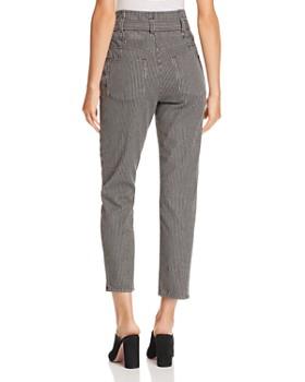 Rebecca Taylor - Striped Straight Jeans in Black