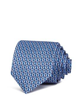 Salvatore Ferragamo - Oversized-Gancini Silk Classic Tie