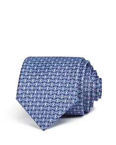 Salvatore Ferragamo Enne Mini Linked-Gancini Silk Classic Tie - Bloomingdale's_0
