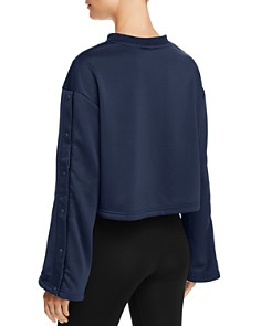 FILA - Aurora Snap-Sleeve Cropped Sweatshirt