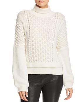FRAME - Popcorn-Stitch Turtleneck Sweater