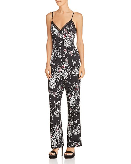 GUESS - Sleeveless Floral-Print Jumpsuit