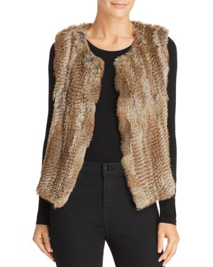 525 AMERICA Classic Fur Vest in Natural