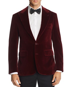 Canali - Capri Peak-Lapel Slim Fit Velvet Sport Coat