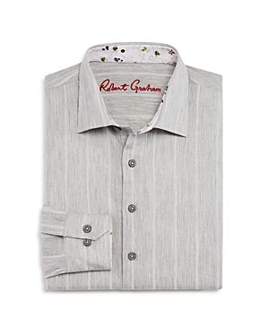 Robert Graham Boys Striped Dress Shirt  Big Kid