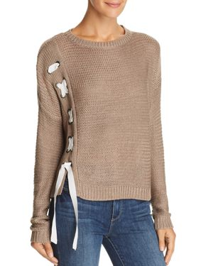 Aqua Lace-Up Side Sweater - 100% Exclusive