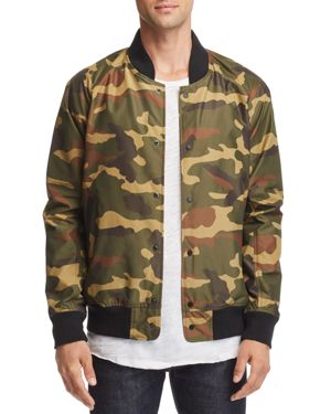 Herschel Supply Co. Camouflage-Print Varsity Jacket