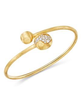 Marco Bicego - 18K Yellow Gold Africa Pavé Diamond Boules Bangle