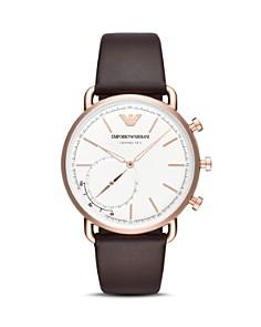 Emporio Armani - Hybrid Smartwatch Brown Leather, 43mm