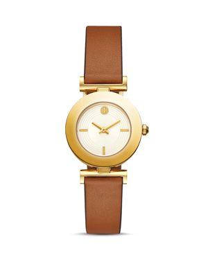 Sawyer Reversible Leather Strap Watch, 29Mm, Orange/ Brown/ Gold