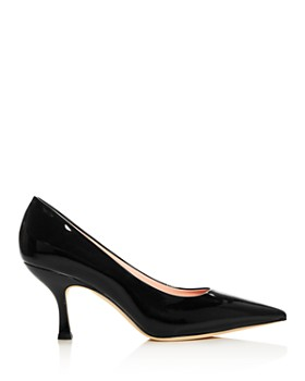 kate spade new york - Women's Sonia Patent Leather Kitten-Heel Pumps