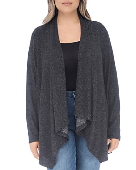 B Collection by Bobeau Curvy - Ami Open Waterfall Cardigan