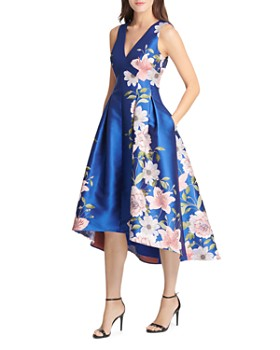 Eliza J - High/Low Floral Jacquard Dress