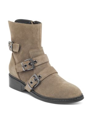 KENDALL AND KYLIE Kendall And Kylie Women'S Nori Round Toe Suede Low-Heel Booties in Light Beige