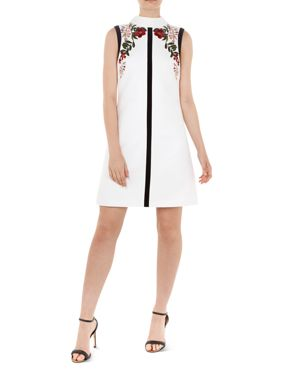 Aimmiid Kirstenbosch Embroidered Woven Tunic Dress, Ivory