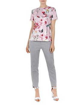 Ted Baker - Daizit Textured Straight-Leg Pants