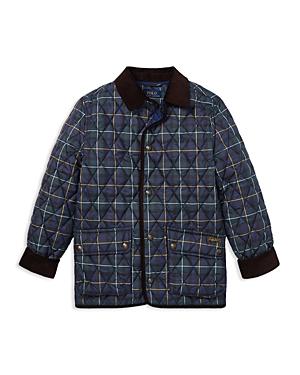 Polo Ralph Lauren Boys Quilted Plaid Kempton Car Jacket  Big Kid