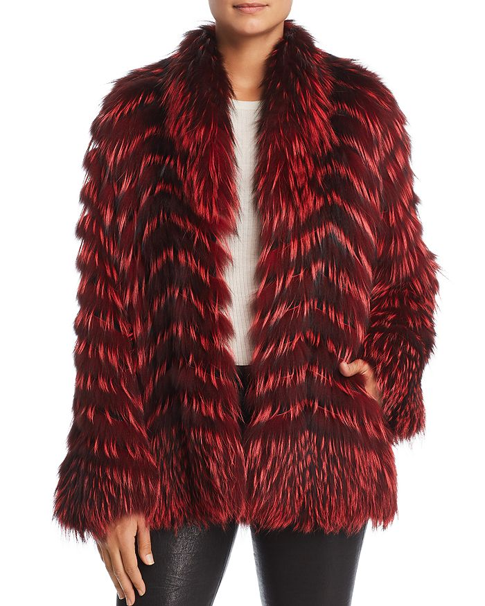 Maximilian Furs - x Zac Posen Feathered Fox Fur Coat - 100% Exclusive