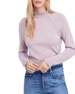 Needle And Thread Merino-Wool Sweater, Lilac