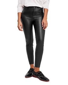 Free People - Long & Lean Faux-Leather Pants