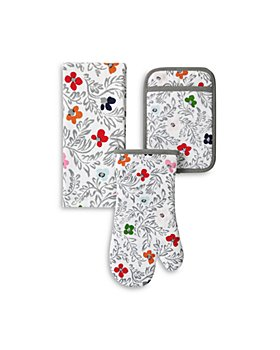 kate spade new york - Floral Blockprint 3-Piece Oven Mitt Set