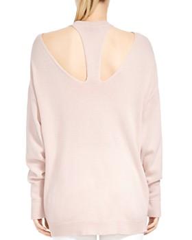 HALSTON HERITAGE - Merino Wool & Cashmere Cutout Sweater