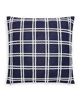 "kate spade new york - Ric Rac Grid Decorative Pillow, 18"" x 18"""