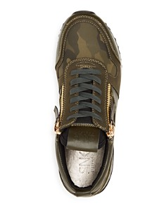 SNKR Project - Men's Rodeo Camo Color-Block Lace Up Sneakers