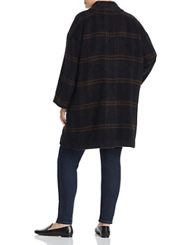 Eileen Fisher Plus - Double-Breasted Plaid Coat