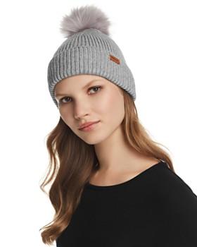 d5cfb011b162d Barbour - Dover Faux Fur Pom-Pom Rib-Knit Beanie