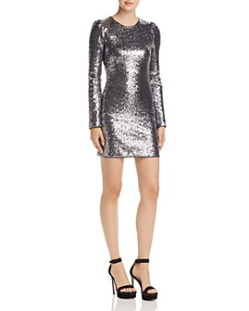Rachel Zoe -  Karlee Sequined Long Sleeve Mini Dress - 100% Exclusive