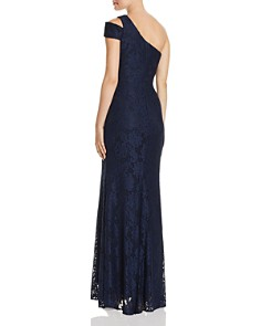 AQUA - Lace Cutout One-Shoulder Gown - 100% Exclusive
