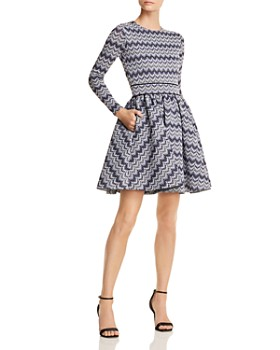 Maje - Royaume Geo Print Fit-and-Flare Dress - 100% Exclusive